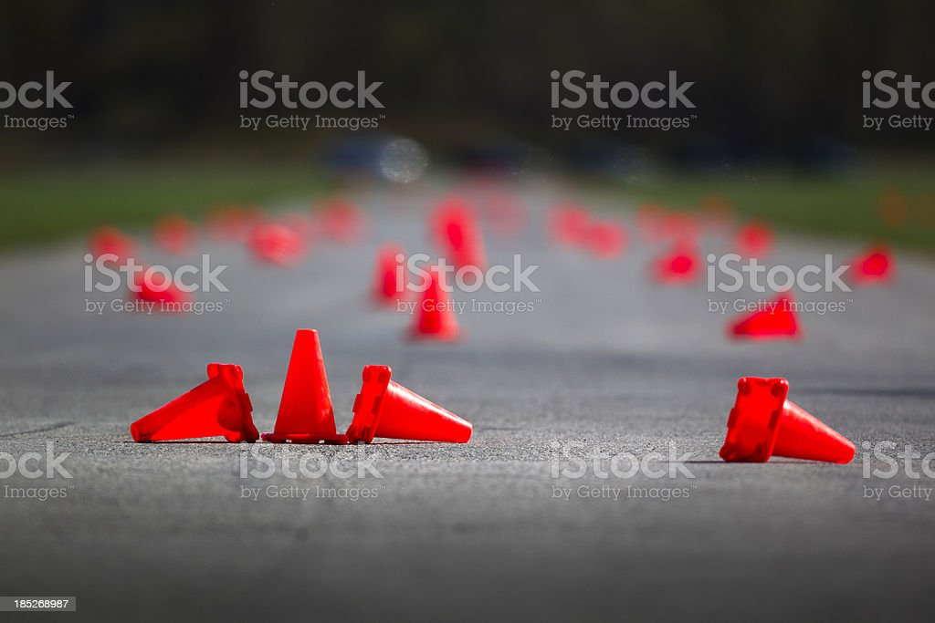 Automobile speed driving test track royalty-free stock photo
