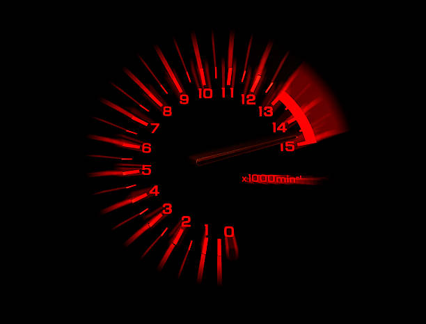 automobile tachometer speedometer stock photo