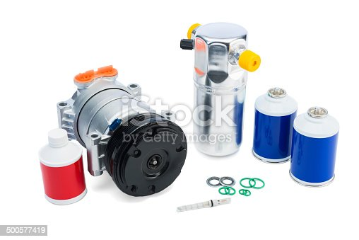istock Automotive AC Parts, air conditioning compressor and Accumulator/Drier 500577419