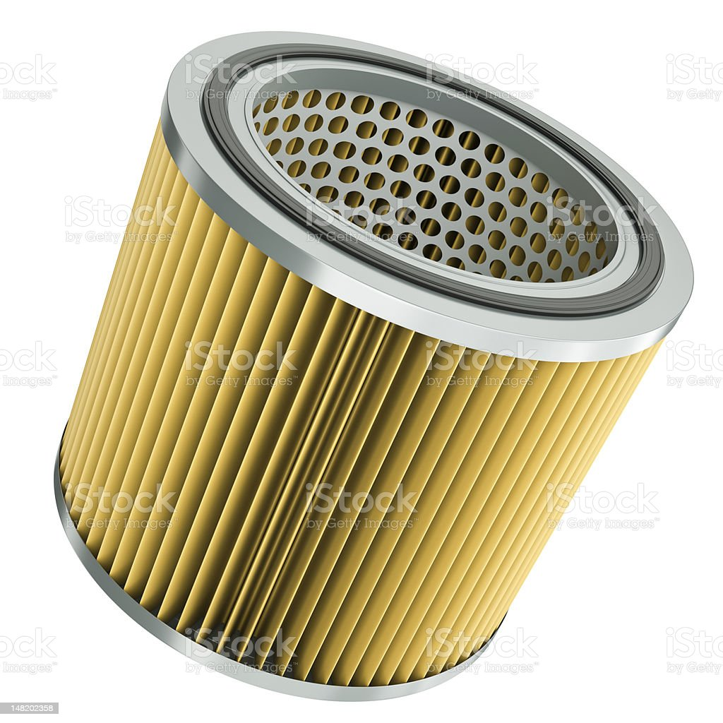 Automotive air filter, car engine part royalty-free stock photo