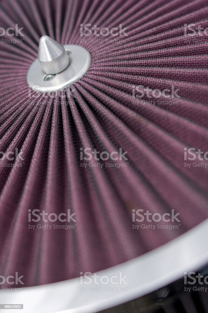 Automotive Air filter detail royalty-free stock photo