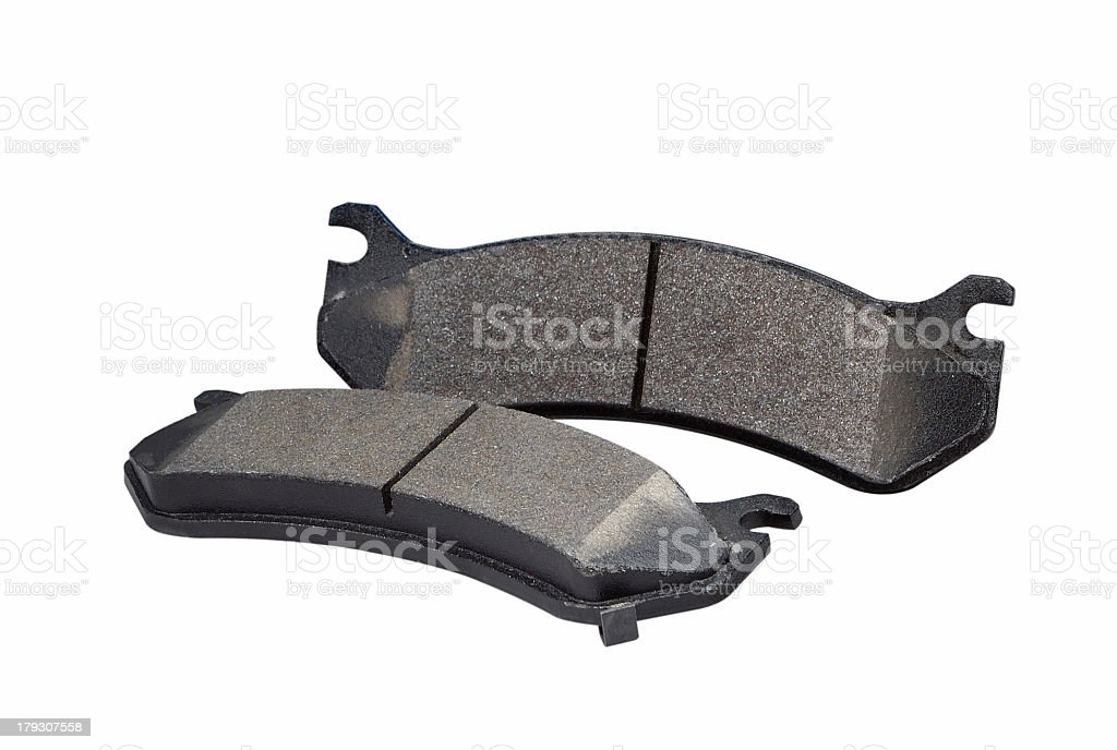Automotive Brake Shoes ( with clipping path) royalty-free stock photo