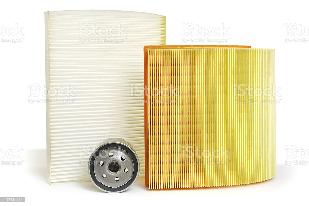 Automotive car parts filters royalty-free stock photo