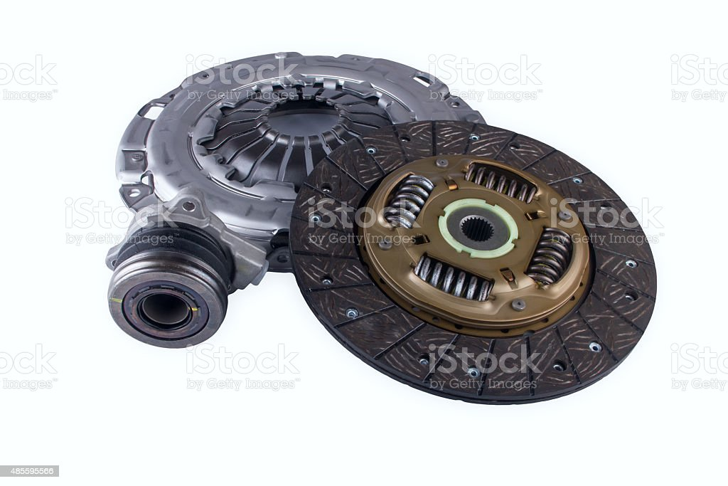 Automotive clutch on a white background stock photo
