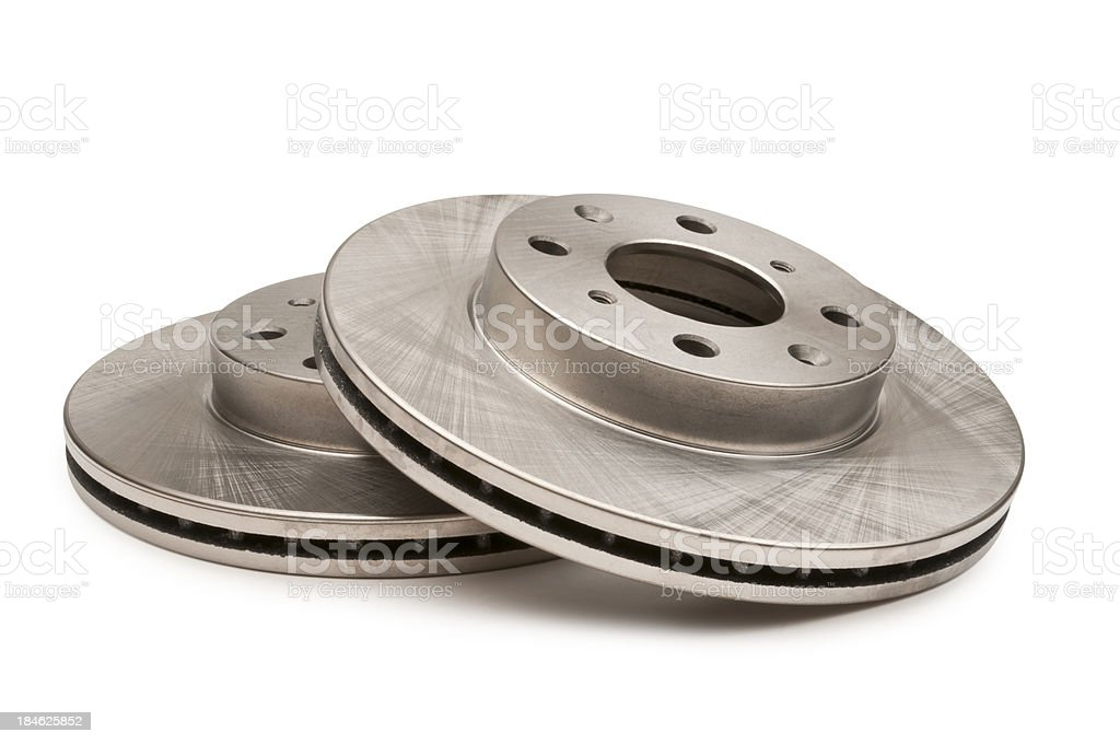 Automotive Disc Brakes on White royalty-free stock photo