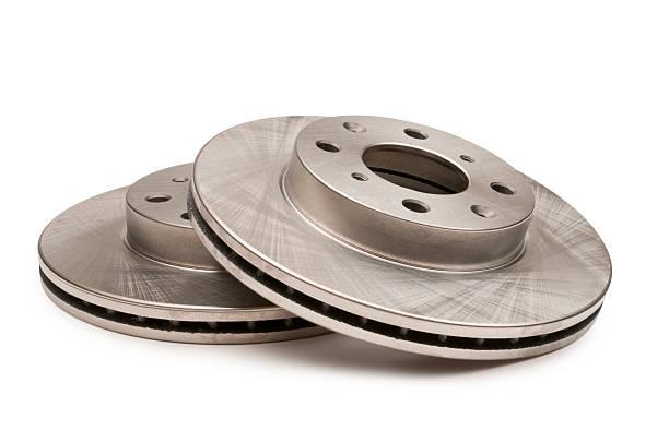 automotive disque de frein blanc - disque de frein photos et images de collection