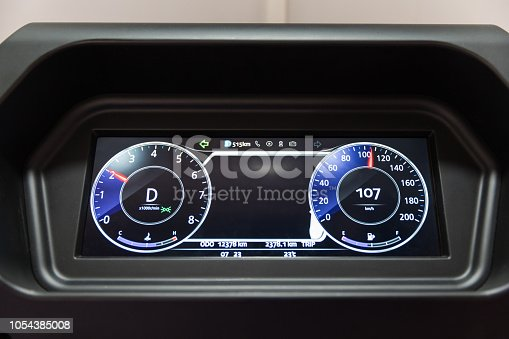Automotive electronic instrument panel