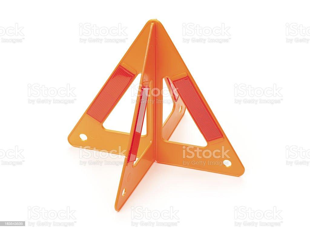 Automotive Emergency Warning Sign royalty-free stock photo