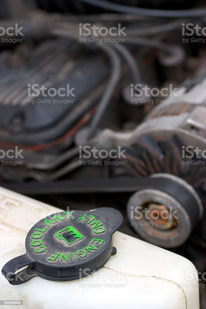 Automotive - Engine Coolant stock photo