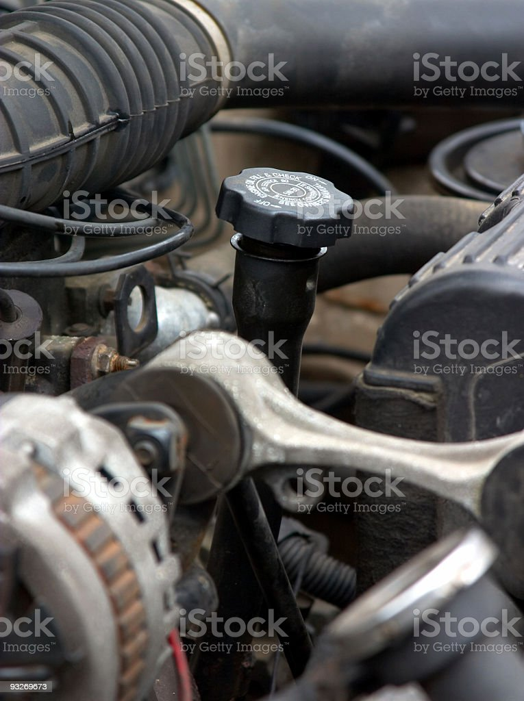 Automotive - Engine Detail royalty-free stock photo