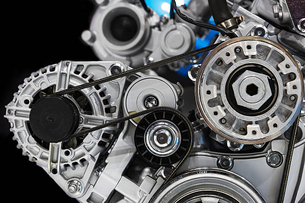 automotive engine - belt stock photos and pictures