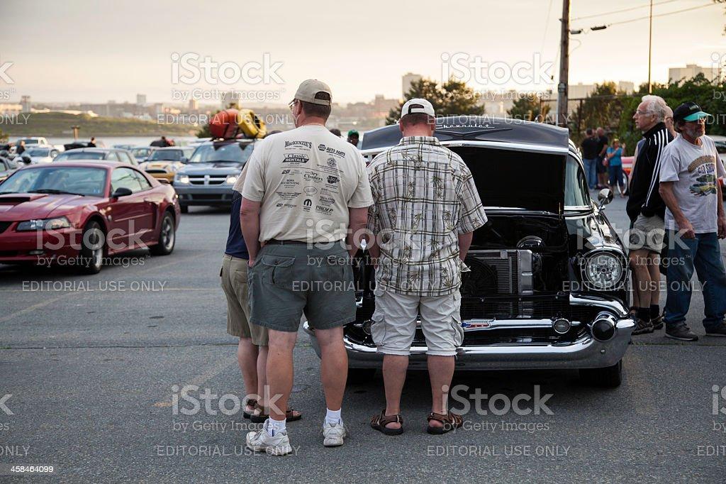 Automotive Enthusiasts royalty-free stock photo