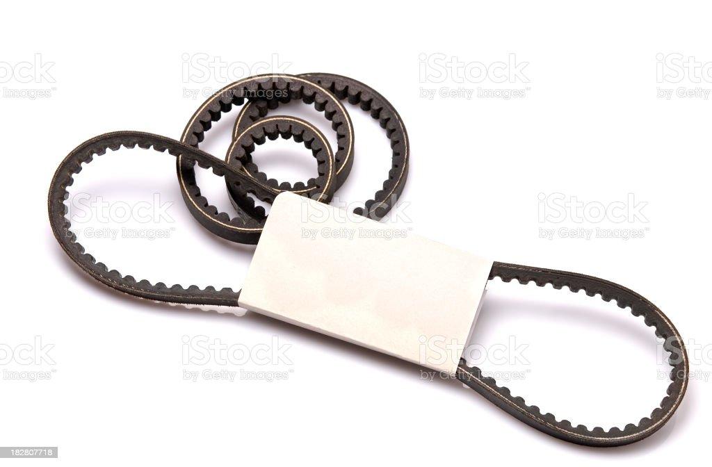 automotive fan belt royalty-free stock photo