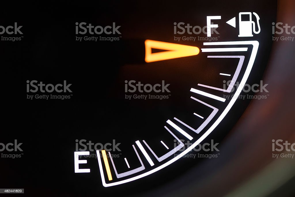 Automotive Fuel Gauge stock photo