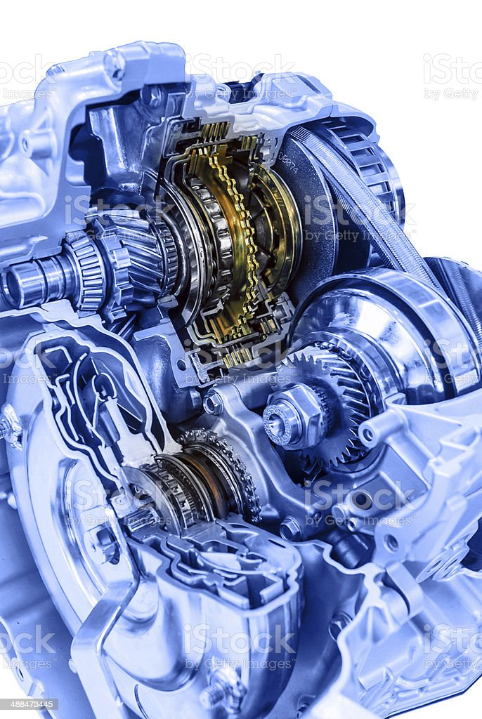 Automotive gearbox internal structure royalty-free stock photo