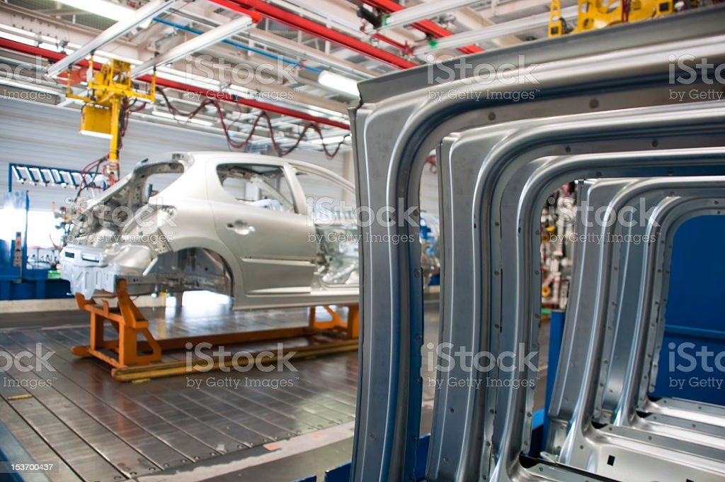 Automotive industry manufacturer's warehouse royalty-free stock photo