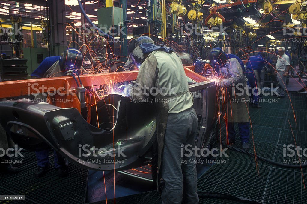 Automotive industry stock photo
