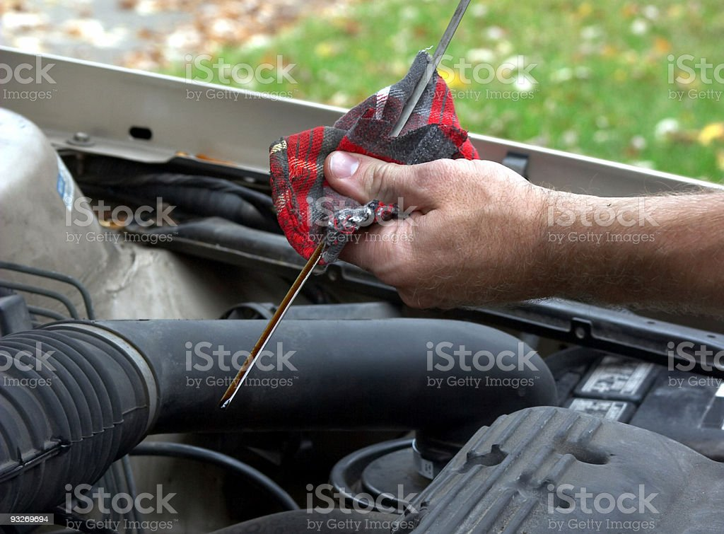 Automotive - Oil Check #2 royalty-free stock photo