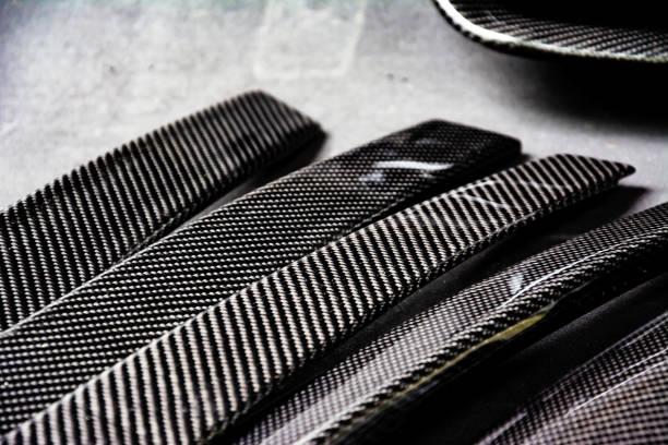 automotive part product make by carbon fiber composite - foto stock