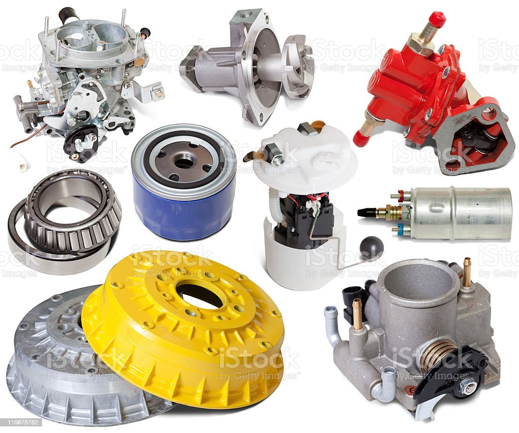 automotive spare parts royalty-free stock photo