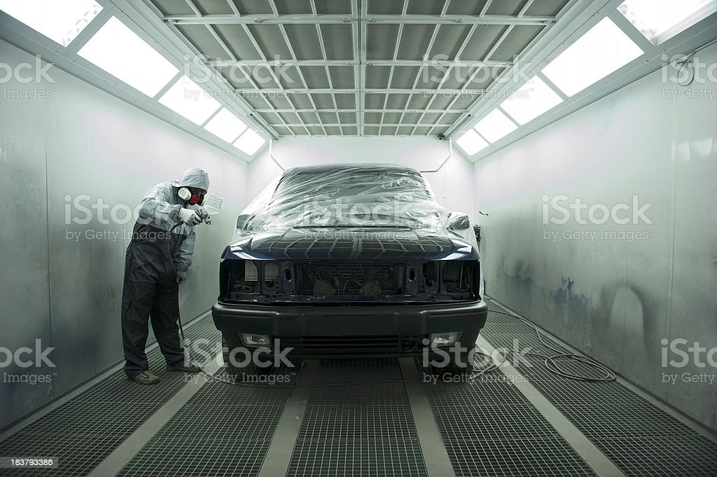 Automotive Spray Painting stock photo