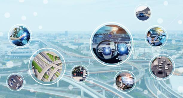 자동차 tehnology 개념입니다. - 교통수단 뉴스 사진 이미지