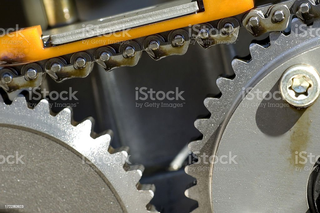 Automotive Timing Chain royalty-free stock photo