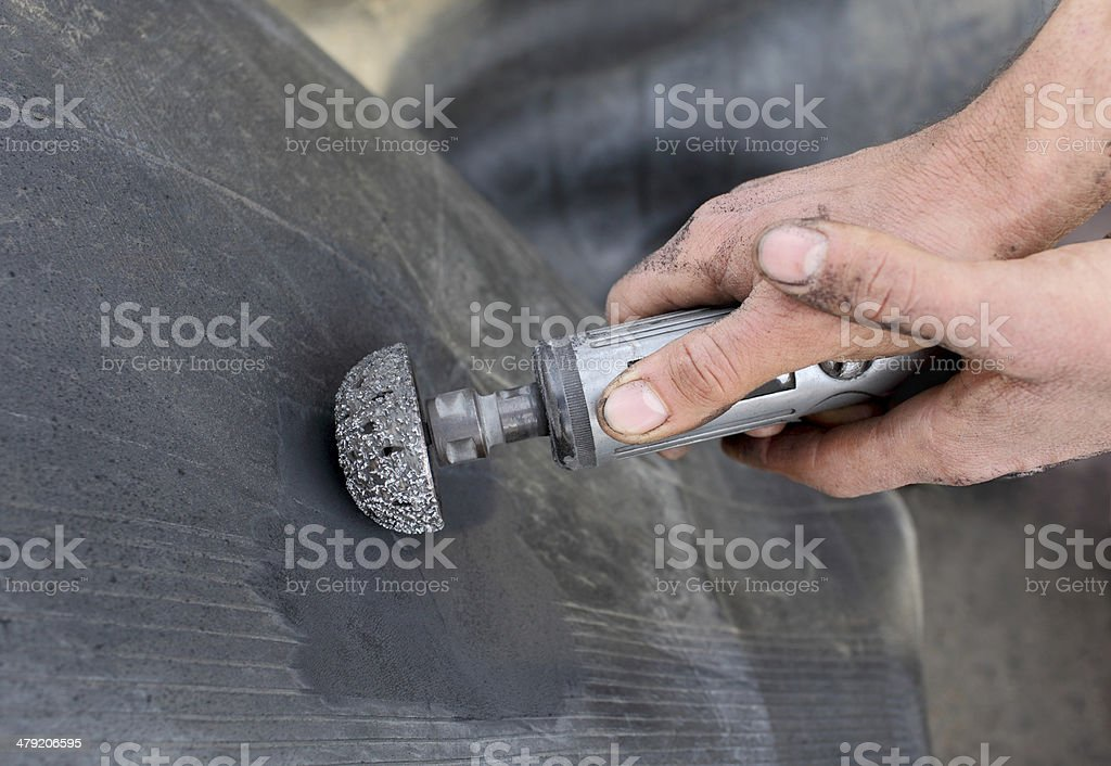 Automotive, tire servicing stock photo