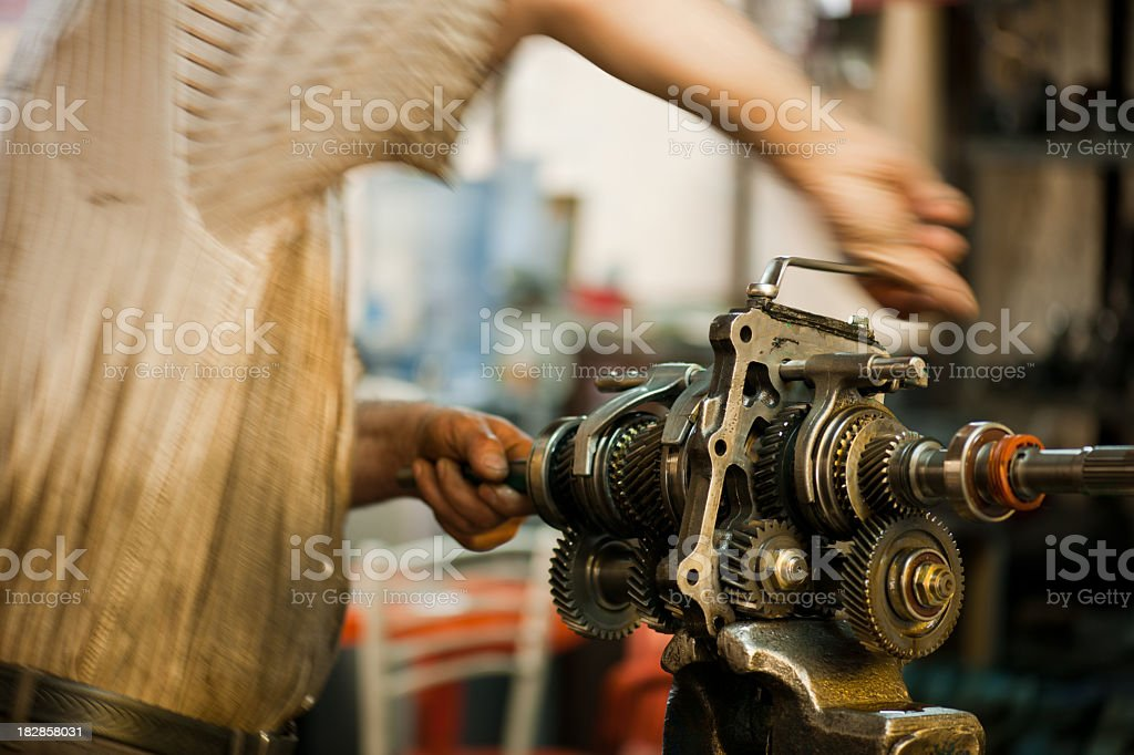 Automotive transmission gearbox royalty-free stock photo