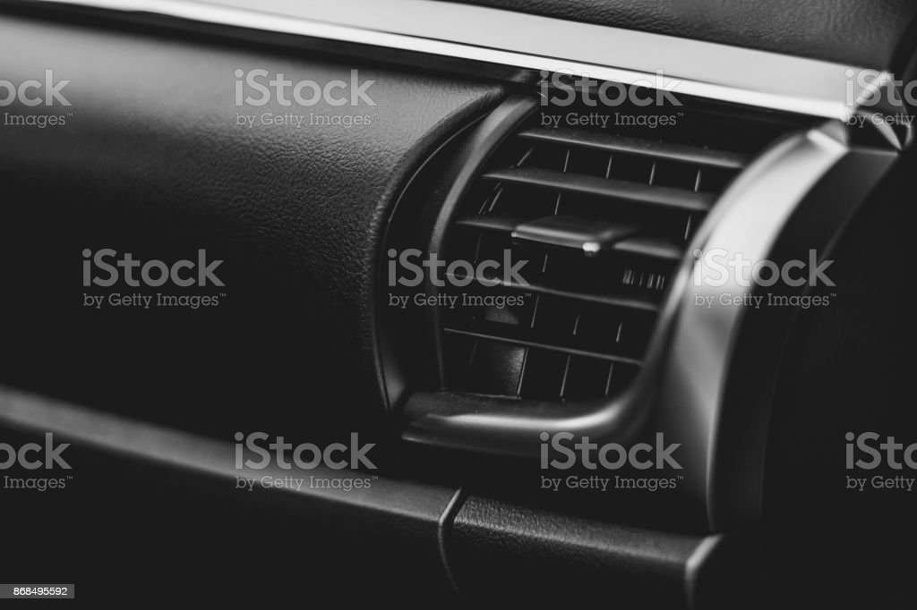 automotive ventilation in the cabin stock photo