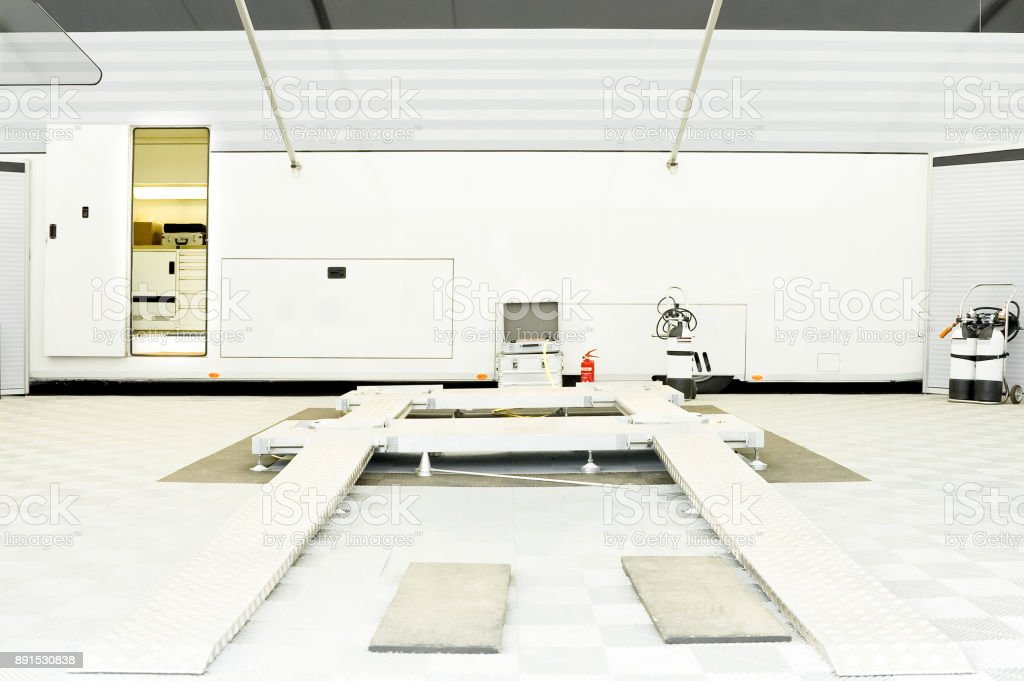 automotive workshop stock photo