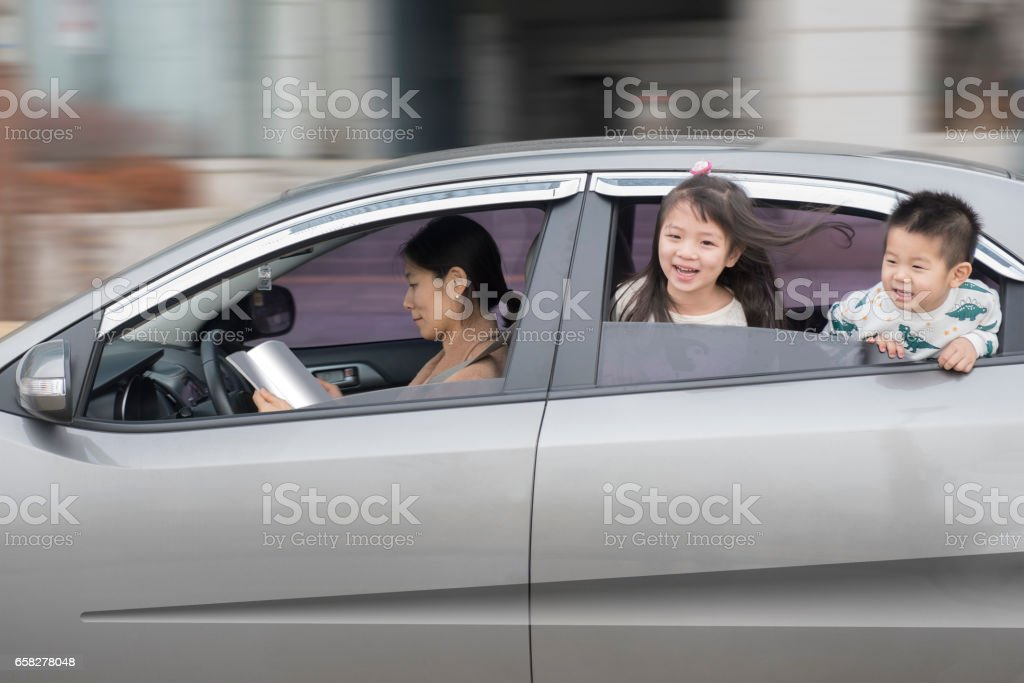 Autonomous and happy family stock photo