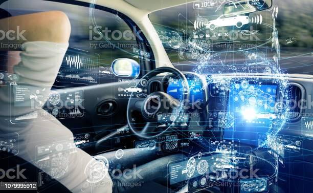 Autonomous Car Concept Driverless Vehicle Stock Photo - Download Image Now