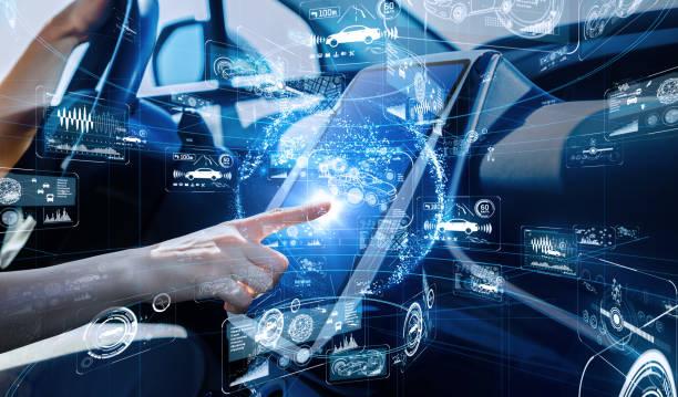 Autonomous car concept. Driverless vehicle. Autonomous car concept. Driverless vehicle. on the move stock pictures, royalty-free photos & images