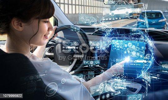 692819426istockphoto Autonomous car concept. Driverless vehicle. 1079995922