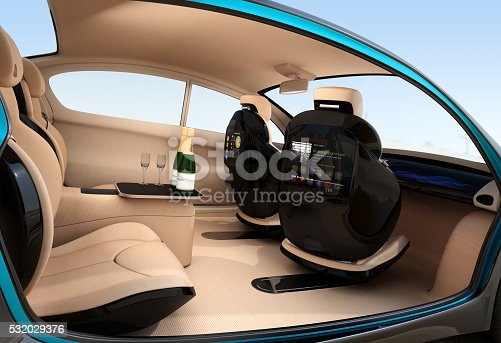 autonomous car interior concept luxury interior serve cool drink service stock photo more. Black Bedroom Furniture Sets. Home Design Ideas