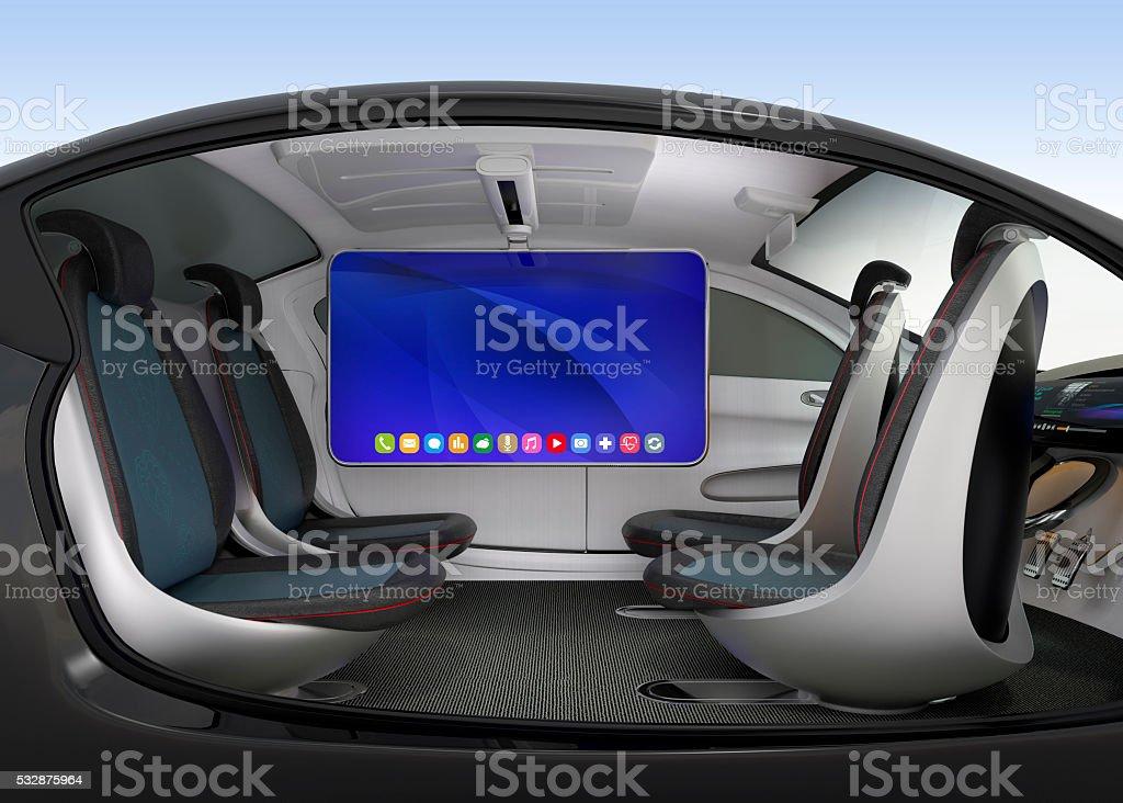 Autonome Auto innen-Konzept – Foto
