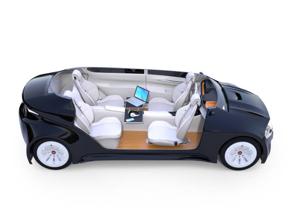 autonomous car interior - self driving car stock photos and pictures