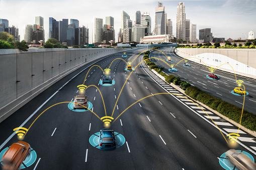 613881746 istock photo Autonomous car sensor system concept for safety of driverless mode car control 1259141647
