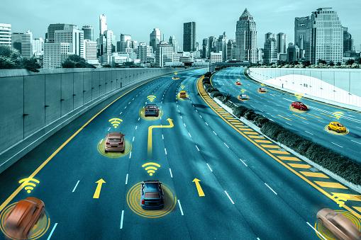 613881746 istock photo Autonomous car sensor system concept for safety of driverless mode car control 1268130491