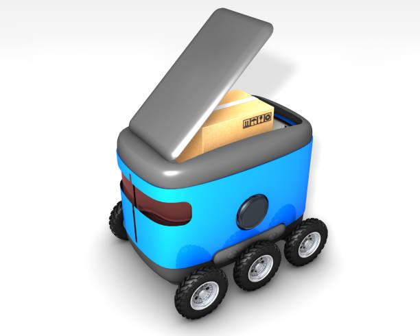 autonoma frakt leveranser - delivery robot bildbanksfoton och bilder
