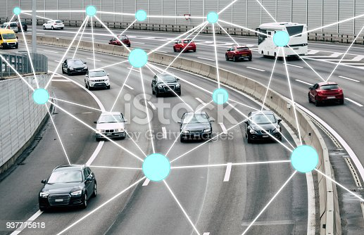istock Autonomous Cars on Road 937775618