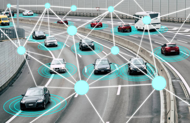 autonomous cars on road - independence stock photos and pictures