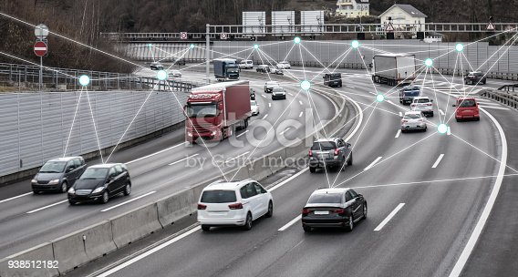 istock Autonomous Cars on Road 938512182