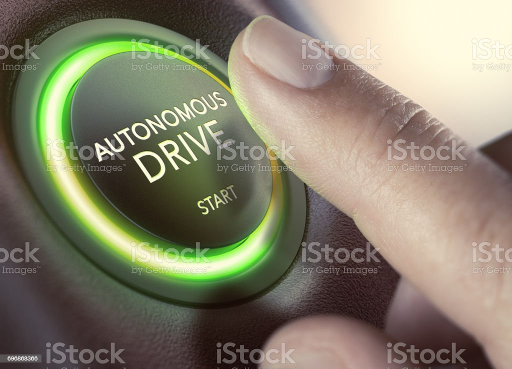 Autonomous Drive, Self-Driving Vehicle - Foto stock royalty-free di Autista - Mestiere