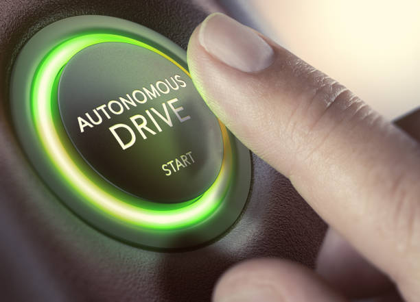 Autonomous Drive, Self-Driving Vehicle stock photo