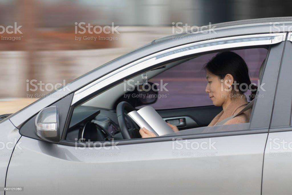 Autonoma körning bildbanksfoto