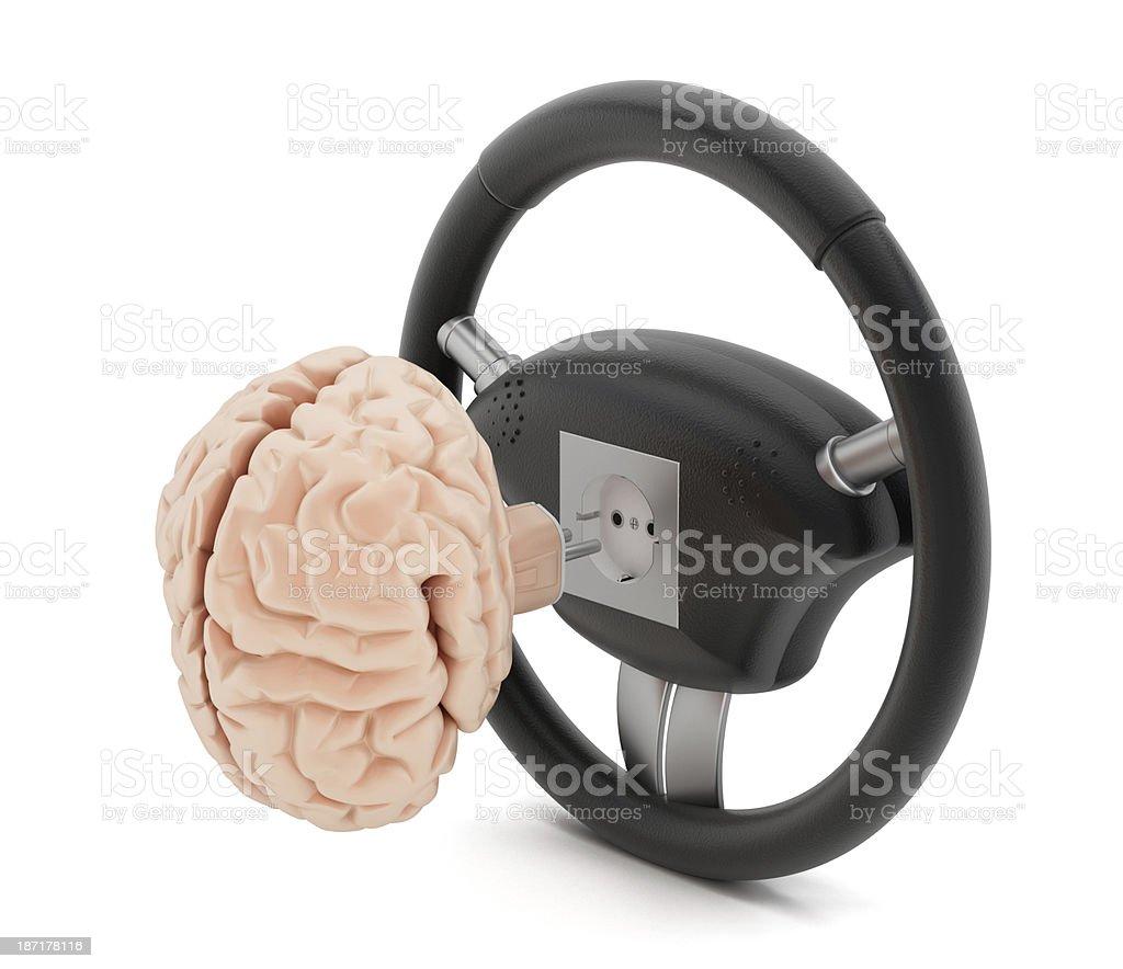 Autonomous driving / Smart car concept stock photo