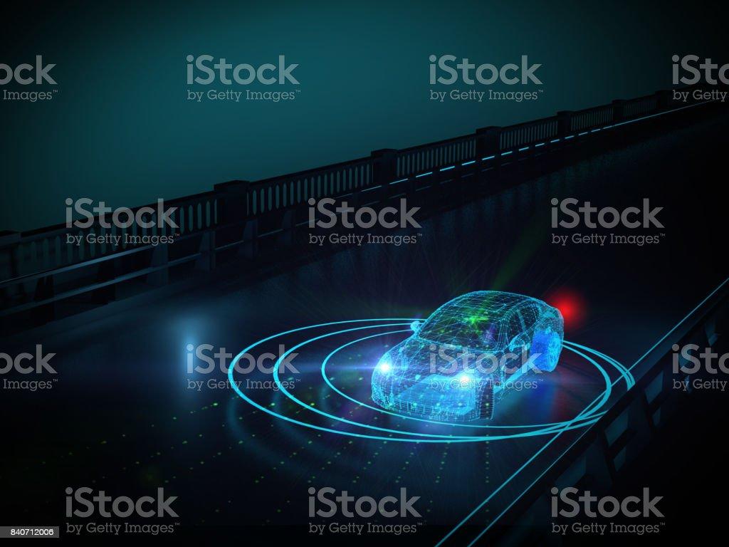 自主的自我驅動汽車圖像檔
