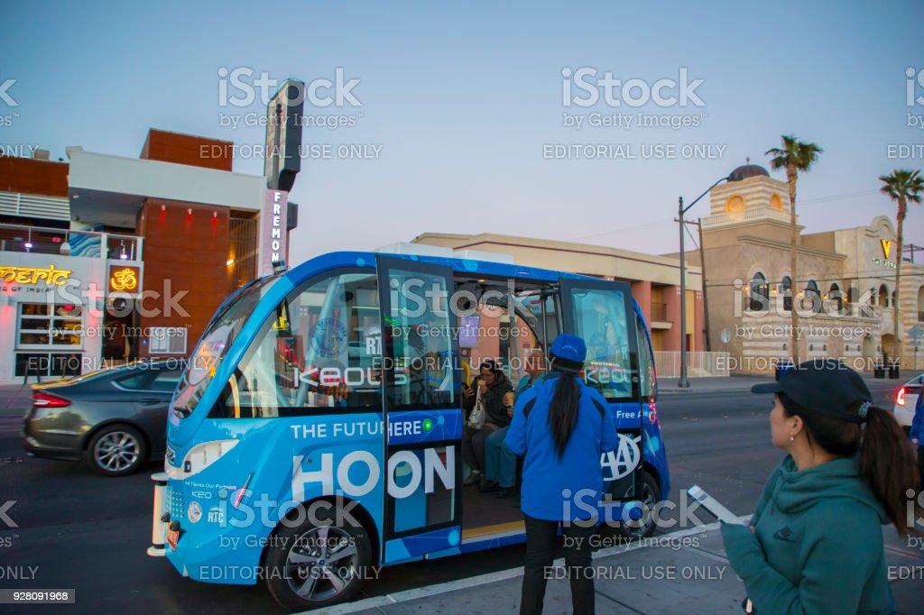 Autonomes Fahrzeug - Downtown Las Vegas – Foto